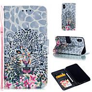 Недорогие Кейсы для iPhone 8-Кейс для Назначение Apple iPhone XR / iPhone XS Max Кошелек / Бумажник для карт / со стендом Чехол Животное Твердый Кожа PU для iPhone XS / iPhone XR / iPhone XS Max