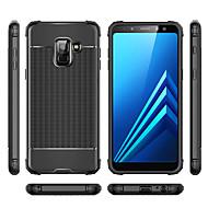 Недорогие Чехлы и кейсы для Galaxy А-Кейс для Назначение SSamsung Galaxy A8 2018 / A6 (2018) Защита от удара Кейс на заднюю панель Однотонный Мягкий ТПУ для A6 (2018) / A6+ (2018) / A7(2018)