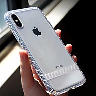 Недорогие Кейсы для iPhone 8-Кейс для Назначение Apple iPhone XR / iPhone XS Max Прозрачный Кейс на заднюю панель Однотонный Мягкий ТПУ для iPhone XS / iPhone XR / iPhone XS Max