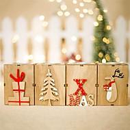 abordables -Décorations de vacances Décorations de Noël Décorations de Noël Décorative Beige / Jaune / Café 1pc