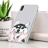 abordables 10% de DESCUENTO y Más-Funda Para Apple iPhone XS Antipolvo / Ultrafina / Diseños Funda Trasera Animal Suave TPU para iPhone XS