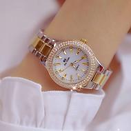 Dámské Náramkové hodinky Diamond Watch zlaté hodinky japonština Křemenný Nerez Zlatá 30 m kreativita Nový design Punk Analogové dámy Luxus Módní Bling bling - Zlatá Stříbrná Zlato / stříbro / bílá