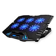 Недорогие Подставки и стенды для MacBook-регулируемый светодиодный экран интеллектуальное управление ноутбук охлаждающая подставка с 5 вентиляторами