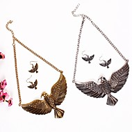 cheap -Women's 3D Jewelry Set - Eagle Ladies, Hyperbole Include Drop Earrings Necklace Gold / Silver For Daily Festival