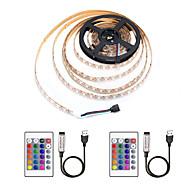 cheap -ZDM® 4m Light Sets / RGB Strip Lights 240 LEDs 5050 SMD 1 24Keys Remote Controller / 2 x USB Connecting Line RGB Waterproof / Cuttable / USB 5 V / USB Powered 1 set