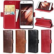 preiswerte Handyhüllen-Hülle Für Huawei P20 Pro / P20 lite Geldbeutel / Kreditkartenfächer / mit Halterung Ganzkörper-Gehäuse Solide Hart Echtleder für Huawei P20 / Huawei P20 Pro / Huawei P20 lite