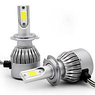 お買い得  -2本h1 h3 h7 h8 h9 h11車電球36wコブ3800lm 2 ledヘッドライト
