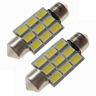 billiga -SENCART 2pcs 36mm Bilar Glödlampor 4.5 W SMD 5730 270 lm 9 LED innerbelysningen / Utomhuslampor lampor Till