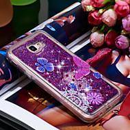Недорогие Аксессуары для Samsung-Кейс для Назначение SSamsung Galaxy J5 Prime Защита от удара / Сияние и блеск Кейс на заднюю панель Бабочка / Сияние и блеск Мягкий ТПУ для J5 Prime