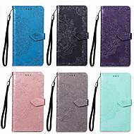 preiswerte Handyhüllen-Hülle Für OPPO F5 Geldbeutel / Kreditkartenfächer / mit Halterung Ganzkörper-Gehäuse Mandala Hart PU-Leder für Oppo F5