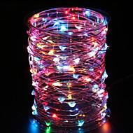cheap -3m String Lights 60 LEDs Multi Color Decorative AA Batteries Powered 1 set