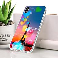 billige -Etui Til Apple iPhone XR Støvsikker / Ultratyndt / Mønster Bagcover Hjerte / Eiffeltårnet Blødt TPU for iPhone XR
