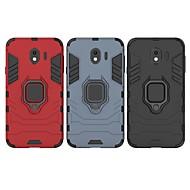 Недорогие Чехлы и кейсы для Galaxy J-Кейс для Назначение SSamsung Galaxy J4 Защита от удара / Кольца-держатели Кейс на заднюю панель Однотонный / броня Твердый ПК для J4 (2018)