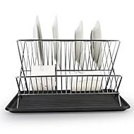 abordables Herramientas de Cocina-1pc Herramientas de cocina Metalic Plegable / Ajustable / Desagüe Soporte Para utensilios de cocina