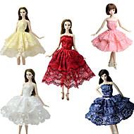 abordables Muñecas y Peluches-Fiesta / Noche / Corte Cenicienta Vestidos 5 pcs por Muñeca Barbie  Tela de Encaje / Satín Vestido por Chica de muñeca de juguete