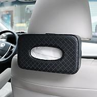 cheap Car Organizers-DE RAN FU Paper towel box for car paper bag creative multi-functional leather shading chair back car paper towel box