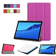 お買い得  携帯電話ケース-ケース 用途 Huawei MediaPad M5 10 / Huawei Mediapad M5 Lite 10 スタンド付き / フリップ / 折りたたみ式 フルボディーケース ソリッド ハード PUレザー のために Huawei Mediapad M5 Lite 10 / MediaPad M5 10 (Pro) / MediaPad M5 10