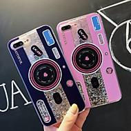 Недорогие Кейсы для iPhone 8-Кейс для Назначение Apple iPhone XR / iPhone XS Max Защита от удара / Движущаяся жидкость / Прозрачный Кейс на заднюю панель Плитка / Сияние и блеск Мягкий ТПУ для iPhone XS / iPhone XR / iPhone XS