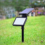 abordables Focos LED-1pc 4.5 W Focos LED / Luz de grama / Luz de pared solar Solar / Decorativa / Control de luz Blanco 3.7 V Iluminación Exterior 48 Cuentas LED