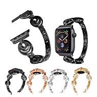 abordables 50% de DESCUENTO y Más-Ver Banda para Apple Watch Series 4/3/2/1 Apple Correa Deportiva / Diseño de la joyería Acero Inoxidable Correa de Muñeca