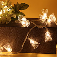 cheap -1.2m String Lights 10 LEDs Warm White Decorative AA Batteries Powered 1 set