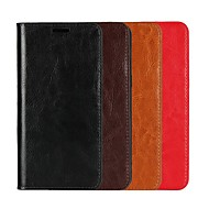 cheap -Case For OPPO Oppo R9s Plus / Oppo R11s Plus Wallet / Card Holder / with Stand Full Body Cases Solid Colored Hard Genuine Leather for OPPO R11s Plus / OPPO R11s / OPPO R11 Plus