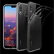 preiswerte Handyhüllen-Hülle Für Huawei P20 Pro / P20 lite Transparent Rückseite Solide Weich TPU für Huawei P20 / Huawei P20 Pro / Huawei P20 lite