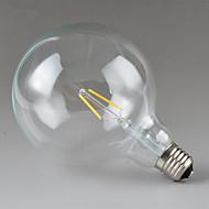 abordables Lámparas LED de Filamentos-JIAWEN 1pc 2 W 240 lm E26 / E27 Bombillas de Filamento LED G125 2 Cuentas LED LED de Alta Potencia Decorativa Blanco Cálido 220-240 V