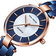 billige -MINI FOCUS Dame Armbåndsur Japansk Quartz 30 m Afslappet Ur Sej Rustfrit stål Bånd Analog Mode Elegant Sort / Blåt / Guld - Sort Blå Rose Guld
