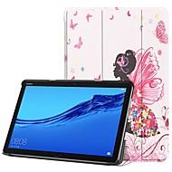 お買い得  携帯電話ケース-ケース 用途 Huawei MediaPad M5 10 / Huawei Mediapad M5 Lite 10 スタンド付き / フリップ / パターン フルボディーケース セクシーレディ ハード PUレザー のために Huawei Mediapad M5 Lite 10 / MediaPad M5 10 (Pro) / MediaPad M5 10