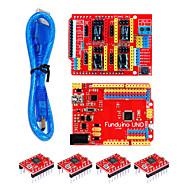 cheap -3D kit(3DV3Red Board UNOFour Pieces Of 498830cm Transparent Blue USB Line)