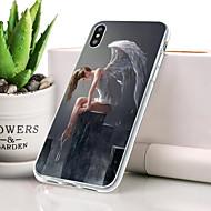 billige -Etui Til Apple iPhone XR Støvsikker / Ultratyndt / Mønster Bagcover Sexet kvinde Blødt TPU for iPhone XR
