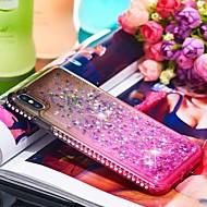 Недорогие Кейсы для iPhone 8 Plus-Кейс для Назначение Apple iPhone XR / iPhone XS Max Стразы / Движущаяся жидкость Кейс на заднюю панель Градиент цвета Мягкий ТПУ для iPhone XS / iPhone XR / iPhone XS Max