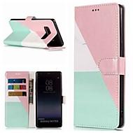 Недорогие Чехлы и кейсы для Galaxy Note 8-Кейс для Назначение SSamsung Galaxy Note 9 / Note 8 Кошелек / Бумажник для карт / со стендом Чехол Мрамор Твердый Кожа PU для Note 9 / Note 8