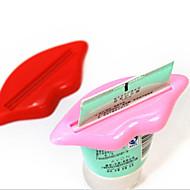 お買い得  浴室用小物-2ピース/バッグセクシーなホットリップキス浴室チューブディスペンサー歯磨き粉クリームスクイーザホームチューブローリングホルダースクイーザ