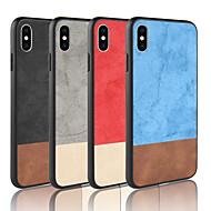 billige -Etui Til Apple iPhone XR / iPhone XS Max Syrematteret Bagcover Ensfarvet Hårdt PU Læder for iPhone XS / iPhone XR / iPhone XS Max