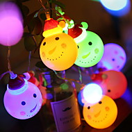 cheap -1.5m String Lights 10 LEDs Multi Color Decorative AA Batteries Powered 1 set