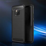 お買い得  携帯電話ケース-ケース 用途 Huawei Huawei Mate 20 Pro / Huawei Mate 20 エンボス加工 バックカバー ソリッド ソフト カーボンファイバー のために Mate 10 / Mate 10 pro / Mate 10 lite