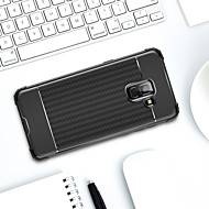 Недорогие Чехлы и кейсы для Galaxy А-Кейс для Назначение SSamsung Galaxy A8 Plus 2018 / А7 (2018) Защита от удара / Матовое Кейс на заднюю панель Однотонный Мягкий ТПУ для A6 (2018) / A6+ (2018) / A7(2018)