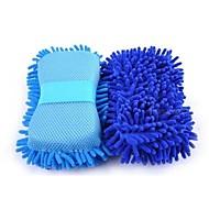 abordables Herramientas de Limpieza-Esponja multifuncional de lavado de coches de microfibra esponjas de lavado de chenilla para automóviles