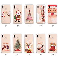 preiswerte Handyhüllen-Hülle Für Huawei P smart / Huawei P Smart Plus Transparent / Muster Rückseite Weihnachten Weich TPU für Huawei P20 lite / P smart / Huawei P Smart Plus