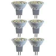 halpa -SENCART 6kpl 5 W 80 W LED-kohdevalaisimet 260 lm MR11 MR11 15 LED-helmet SMD 5060 Koristeltu Lämmin valkoinen Kylmä valkoinen 12 V