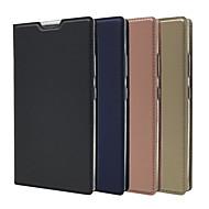 preiswerte Handyhüllen-Hülle Für Sony Xperia XA2 Ultra / Xperia XZ2 Premium Kreditkartenfächer / mit Halterung / Flipbare Hülle Ganzkörper-Gehäuse Solide Hart PU-Leder für Sony Xperia Z5 / Z5 Mini / Sony Xperia XZ2 Premium