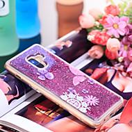 Недорогие Чехлы и кейсы для Galaxy А-Кейс для Назначение SSamsung Galaxy A8 Plus 2018 Защита от удара / Сияние и блеск Кейс на заднюю панель Бабочка / Сияние и блеск Мягкий ТПУ для A8+ 2018
