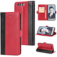 お買い得  携帯電話ケース-ケース 用途 Huawei Honor 9 ウォレット / カードホルダー / フリップ バックカバー ソリッド ハード PUレザー のために Honor 9