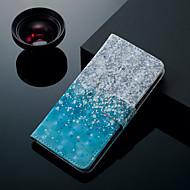 Недорогие Чехлы и кейсы для Galaxy J3(2017)-Кейс для Назначение SSamsung Galaxy J6 / J4 Бумажник для карт / со стендом / Флип Чехол Пейзаж Твердый Кожа PU для J7 (2017) / J7 (2016) / J6 (2018)