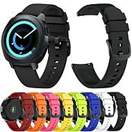 Недорогие Часы для Samsung-Ремешок для часов для Gear Sport / Gear S2 / Gear S2 Classic Samsung Galaxy Спортивный ремешок / Классическая застежка силиконовый Повязка на запястье