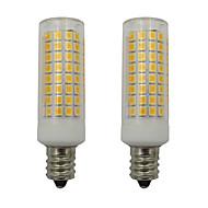お買い得  LED コーン型電球-2pcs 5 W 460 lm E12 LEDコーン型電球 102 LEDビーズ SMD 2835 温白色 / クールホワイト 110-130 V