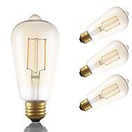 tanie -GMY® 4 szt. 2 W 180 lm E26 / E27 Żarówka dekoracyjna LED ST19 2 Koraliki LED COB Dekoracyjna Bursztynowy 120 V