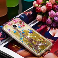 Недорогие Чехлы и кейсы для Galaxy A5(2016)-Кейс для Назначение SSamsung Galaxy A5(2016) Защита от удара / Сияние и блеск Кейс на заднюю панель Эйфелева башня / Сияние и блеск Мягкий ТПУ для A5(2016)